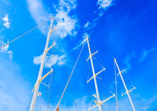 3 Mast sailing Boat Royalty Free Stock Images
