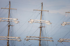 Mast sailing ship Stock Photos