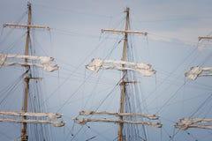 Mast sailing ship Stock Photos