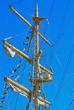 Mast of a Sailing Ship Royalty Free Stock Photos