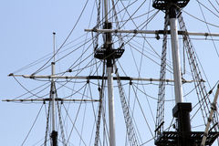 The mast of a sailing ship Stock Photography