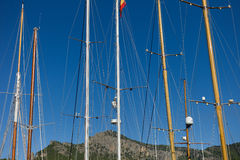 Mast on Sailing Ship an mountain Stock Images