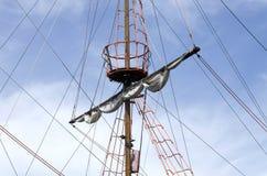 Mast of the sailing ship Stock Photos