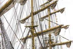 Mast of sailing ship Royalty Free Stock Photos