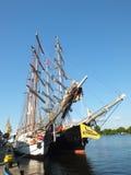 The mast of sailing ship Siedow Stock Image