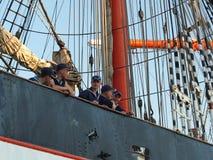 The mast of sailing ship Siedow Royalty Free Stock Photos