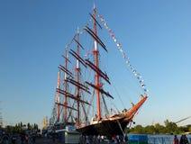 The mast of sailing ship Siedow Stock Photos