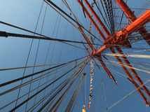 Mast of sailing ship Siedow Stock Image