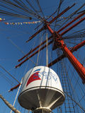 The mast of sailing ship  Royalty Free Stock Images