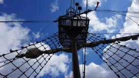 Mast sailing ship Royalty Free Stock Image