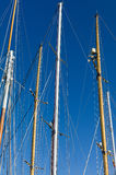 Mast on Sailing Ship / Yacht Royalty Free Stock Photos