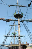 Mast on sailing vessel Stock Photo