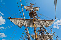 Mast with sails Stock Image