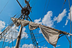 Mast with sails Stock Images