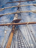 Mast and sails of ship Stock Photography