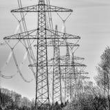 Mast in Schwarzweiss Stockfotografie