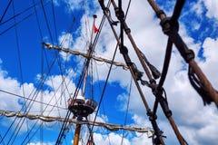 Mast, Segelschiff lizenzfreies stockfoto