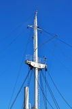 Mast ship against of blue sky Royalty Free Stock Photography