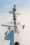 Mast of  ship with rada Stock Photo