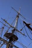 mast ships Arkivbild