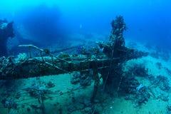 Mast of shipwreck Royalty Free Stock Image