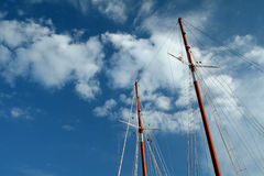 Mast and sky. Vacation classic image mast and sky. One word - freedom royalty free stock images