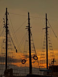 Mast in sunset Royalty Free Stock Images