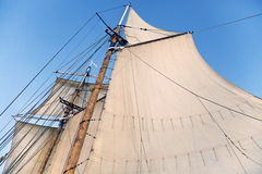 Mast of a tall ship Royalty Free Stock Image