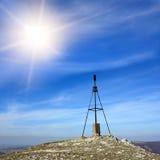 Mast on top of mountain Stock Photo