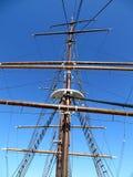 Mast van de zeilboot royalty-vrije stock fotografie