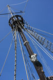 Mast van een galjoen stock afbeeldingen