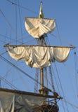 Mast van een lang schip Stock Fotografie
