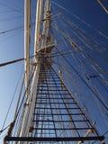 Mast van een oude sailsboat Stock Afbeelding