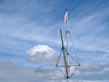 Mast of a wooden sailboat Royalty Free Stock Photo