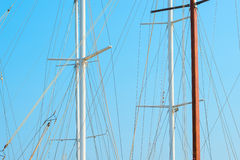 Only mast yacht and sky Stock Image