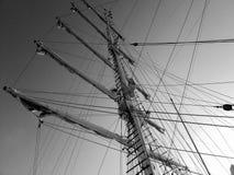 Maste des Schiffs stockfoto