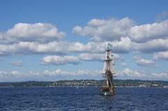 2 masted высокорослый корабль Стоковые Изображения