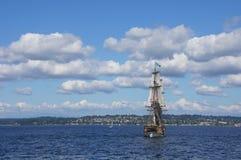2 masted высокорослый корабль Стоковое Изображение RF