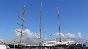 3 masted парусное судно Стоковые Изображения