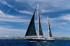 2-masted яхта в Средиземном море Стоковое фото RF