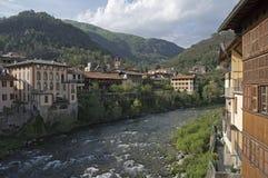 Mastellone rzeka w Varallo Sesia, Italy Zdjęcia Stock