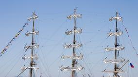 Masten 1 van schepen Stock Foto