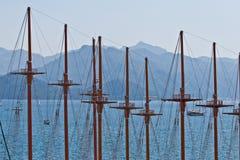 Masten in de haven Royalty-vrije Stock Foto