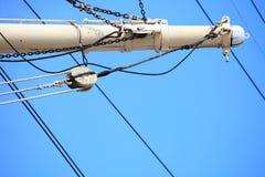 Masten en kabel van varend schip. Royalty-vrije Stock Fotografie