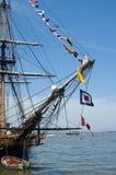 Masten en Vlaggen royalty-vrije stock fotografie