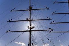 masten mir seglar shiputbildning Royaltyfri Fotografi