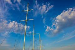 Masten van jachten Royalty-vrije Stock Afbeeldingen