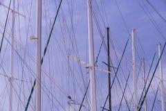 Masten van schepen en Royalty-vrije Stock Afbeeldingen