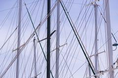 Masten van schepen en Stock Afbeelding