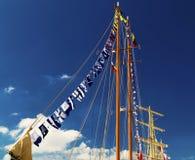 Masten van varend schip Royalty-vrije Stock Afbeeldingen